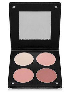 Make-Up Atelier Paris Palette Blush Powder 3D  BL3DBR Beige rose Румяна в палитре на 4 цвета розово-бежевые с зеркалом