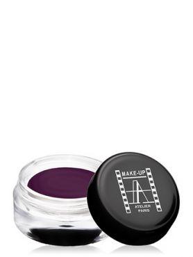 Make-Up Atelier Paris Cream Eyeshadow ESCAU Aubergine Тени для век кремовые розово-баклажанные с мерцанием