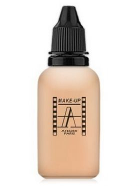 Make-Up Atelier Paris HD Fluid Concealer Apricot AIRA1 Clear apricot Корректор-консилер для аэрографа A1  бледно-абрикосовый